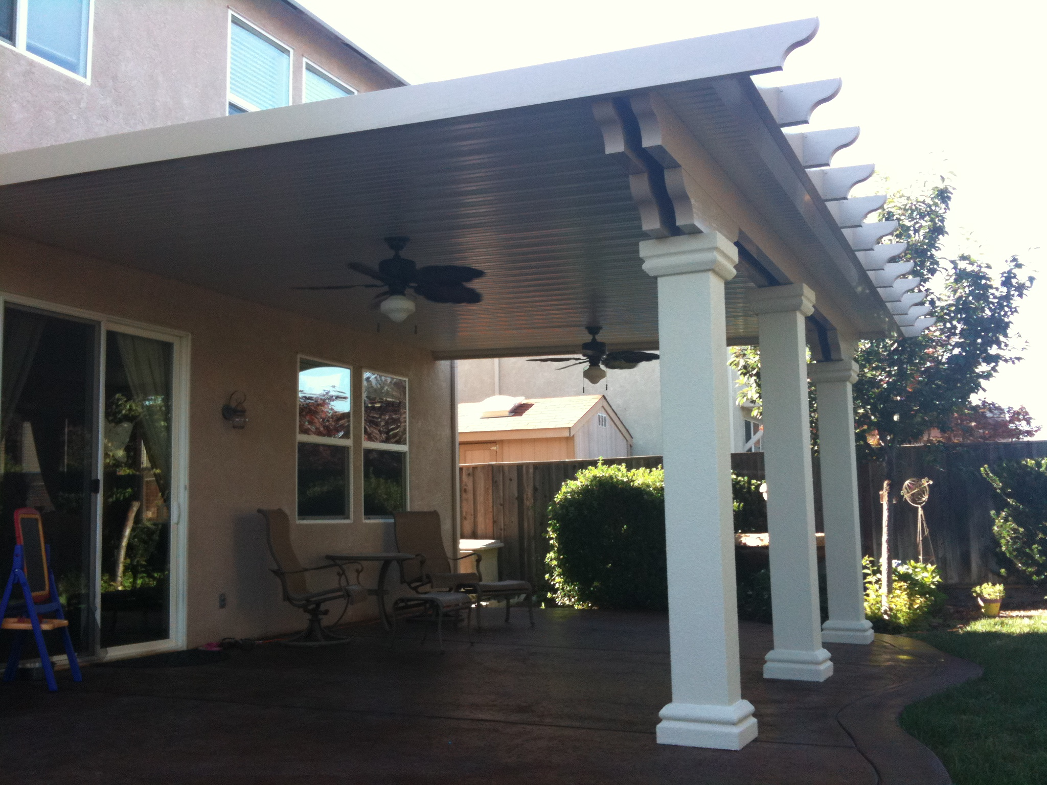 Roof columns white porch high pitch roof square columns for Stucco columns