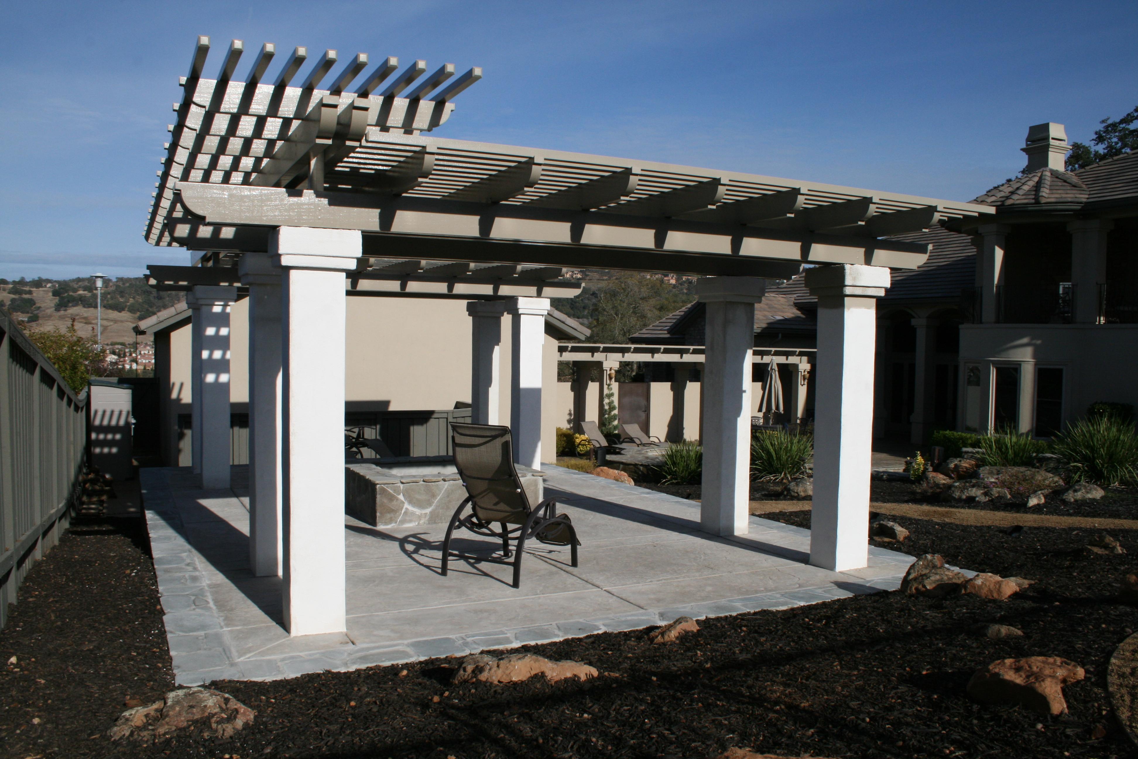 Stucco columns upgrade sacramento patio covers for Stucco columns